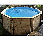 "Plastica Octagonal Wooden Fun Pool 8ft x 30"""