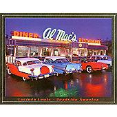 Lucinda Lewis Al Mac's Diner Tin Sign