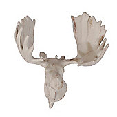 Hanging Aged White Moose Head Christmas Decoration