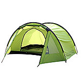 North Gear Camping Exodus Waterproof 4 Man Tunnel Tent Green