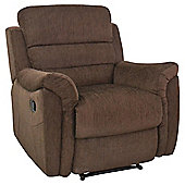 Chloe Fabric Recliner Armchair Chocolate