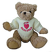 Our Bridesmaid Pink Heart Wedding Teddy Bear