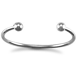 Jewelco London Sterling Silver Solid Torque Torque Bangle - Children's