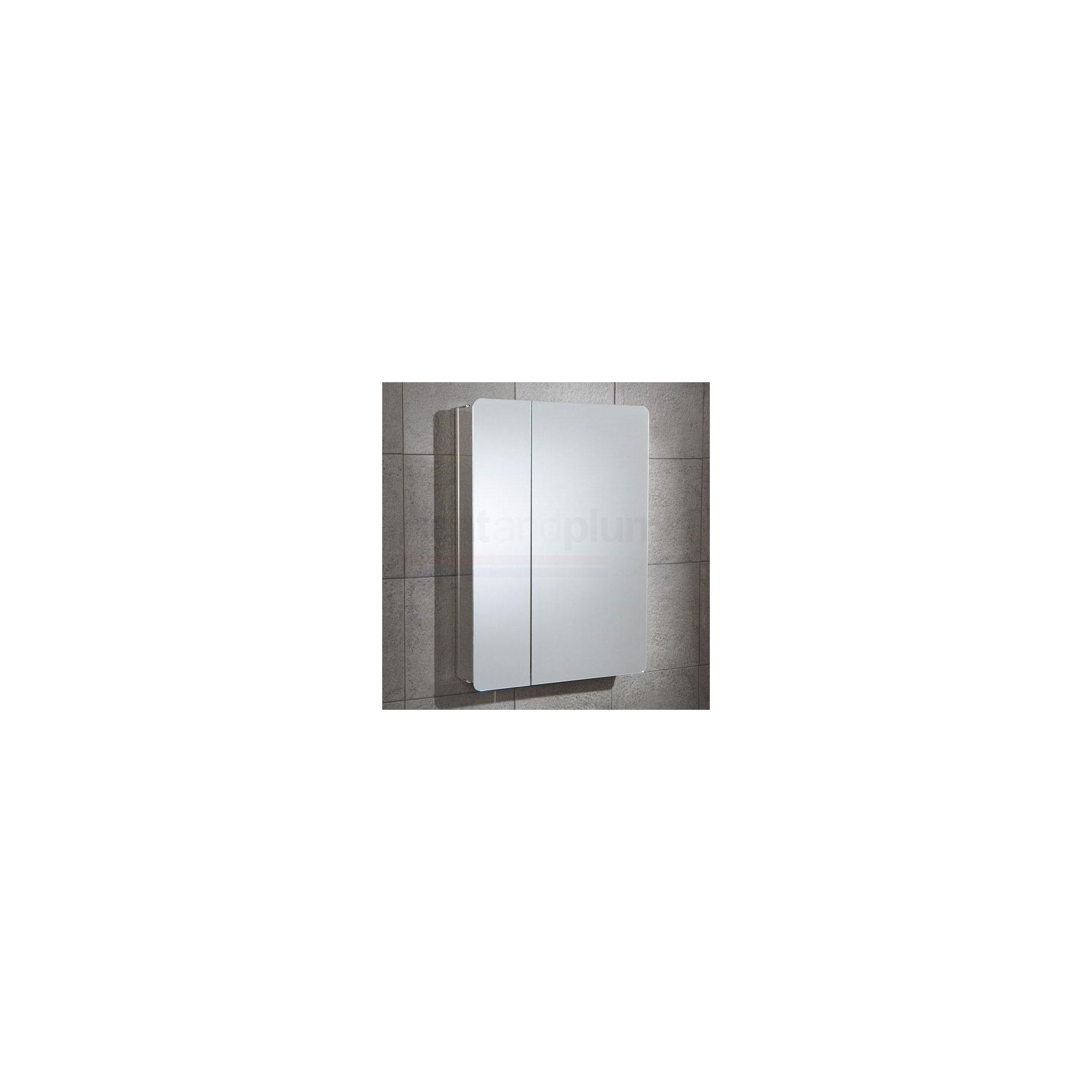 HiB Apollo Stainless Steel Bathroom Cabinet 700mm High x 500mm Wide x 105mm Deep