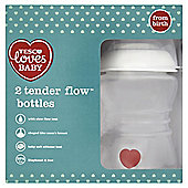 TESCO LOVES BABY TENDER FLOW FEEDING BOTTLE 250ML x2