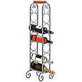 Stand - Metal 6 Freestanding Bottle Wine Rack - Silver
