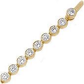 Jewelco London 18 Carat Yellow Gold 3.00ct Rub-over Diamond Line Bracelet
