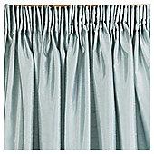 Tesco Faux Silk Pencil Pleat Curtains W112xL183cm (44x72''), Eau De Nil