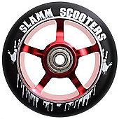 Slamm 110mm Essential Spoke Metal Core Scooter Wheel and Bearings - Red