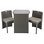 Cube Bistro Garden Furniture Set, Taupe