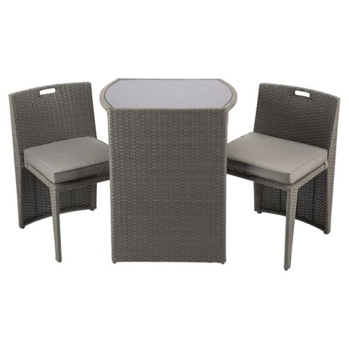 Buy Cube Bistro Garden Furniture Set Taupe From Our All Garden Furniture Range Tesco