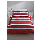 Tesco Oriental Stripe Print Duvet Cover Set Double