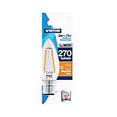 Status 2W/25W LED Candle BC/B22 Filament Bulb