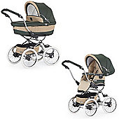Bebecar Stylo Class EL Prive Luxury Combination Pram (Green Weave)