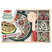 Melissa & Doug - Pizza Party Wooden Play Food Set With Over 50 Toppings