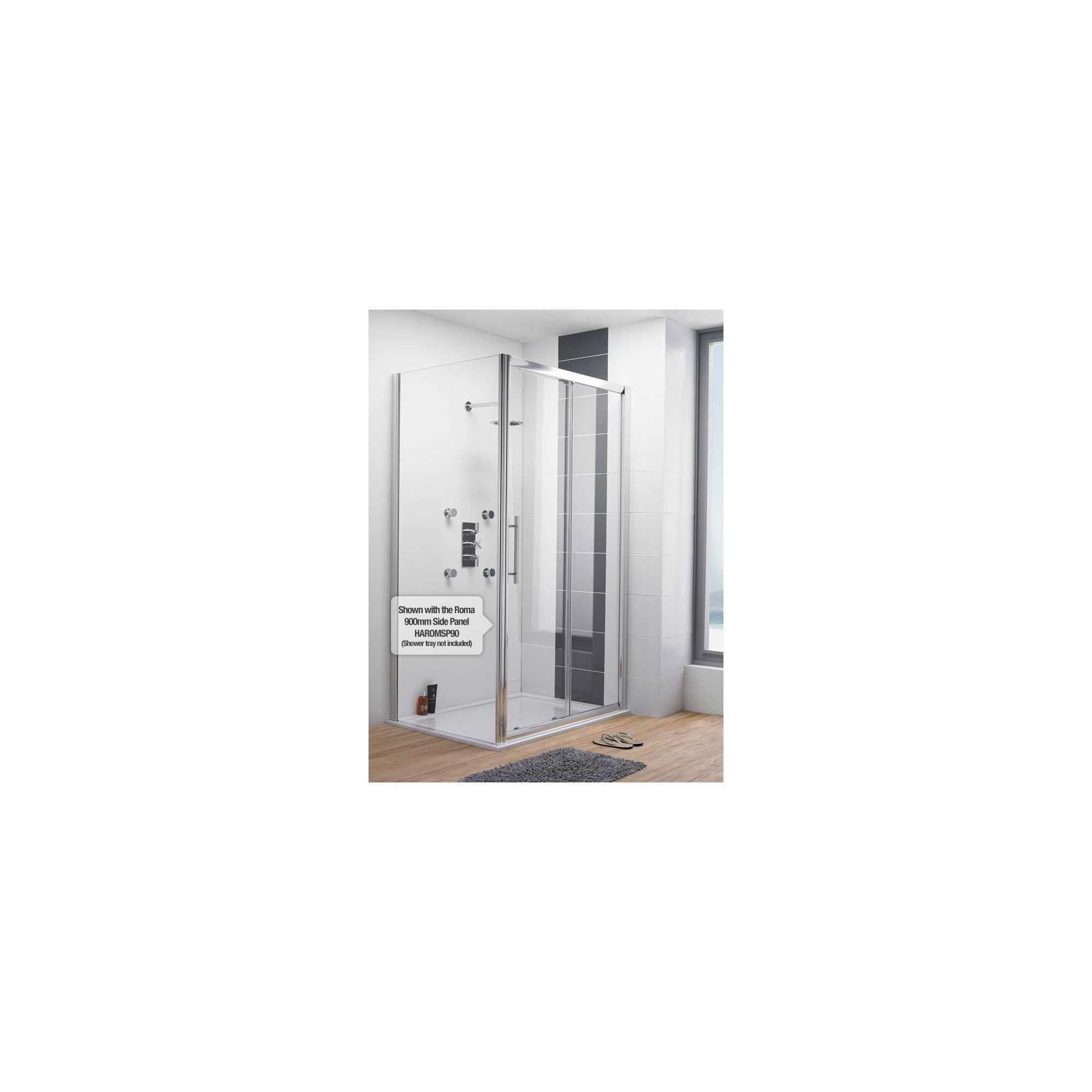 Ultra Roma Sliding Shower Door, 1200mm Wide, 6mm Glass at Tescos Direct