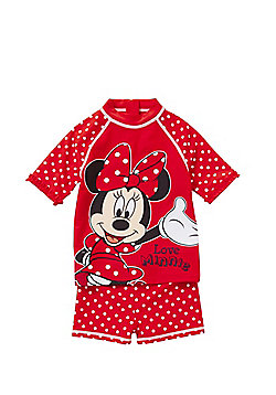 Disney Minnie Mouse UPF 50+ Surf Suit - Red