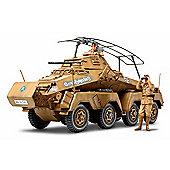 Sd.Kfz. 232 German 8 Wheeled Heavy Armoured Car, Africka-Korps - 1:35 Scale Military - Tamiya