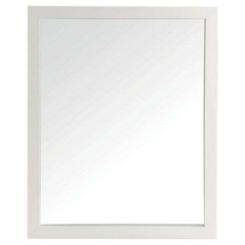 white wood bathroom mirror