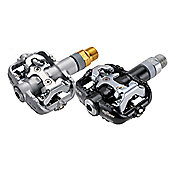 Wellgo WPD 801 - 9/16 ATB Pedals - Shimano Cleat Compatible with Sealed Bearing - Silver