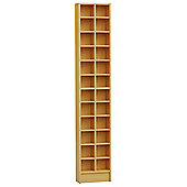 Techstyle Tall Sleek CD / DVD Media Storage Tower Shelves - Beech