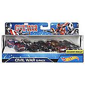 Marvel Civil War Character Car 5 Pack