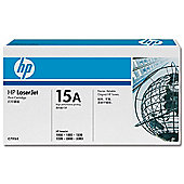 HP 15A Ultraprecise Standard Capacity Black Print Cartridge (Yield 2,500 Pages)