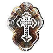 Iron Stop Designer Celtic Cross Wind Spinner 6.5in Garden Feature