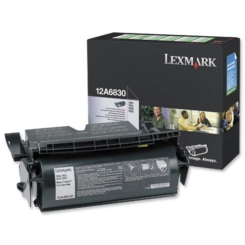 Lexmark Black Laser Print Cartridge (Yield 7,500 Pages) for Lexmark T52X Series