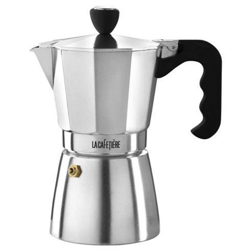 La Cafetiere Polished Classic Espresso Maker, 6 Cup