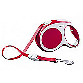 Flexi Vario XS Extending Dog Lead - Red (Tape) 3m