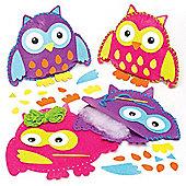 Owl Cushion Felt Sewing Craft Kits (Pack of 2)