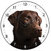 Smith & Taylor Chocolate Labrador Dog Wall Clock