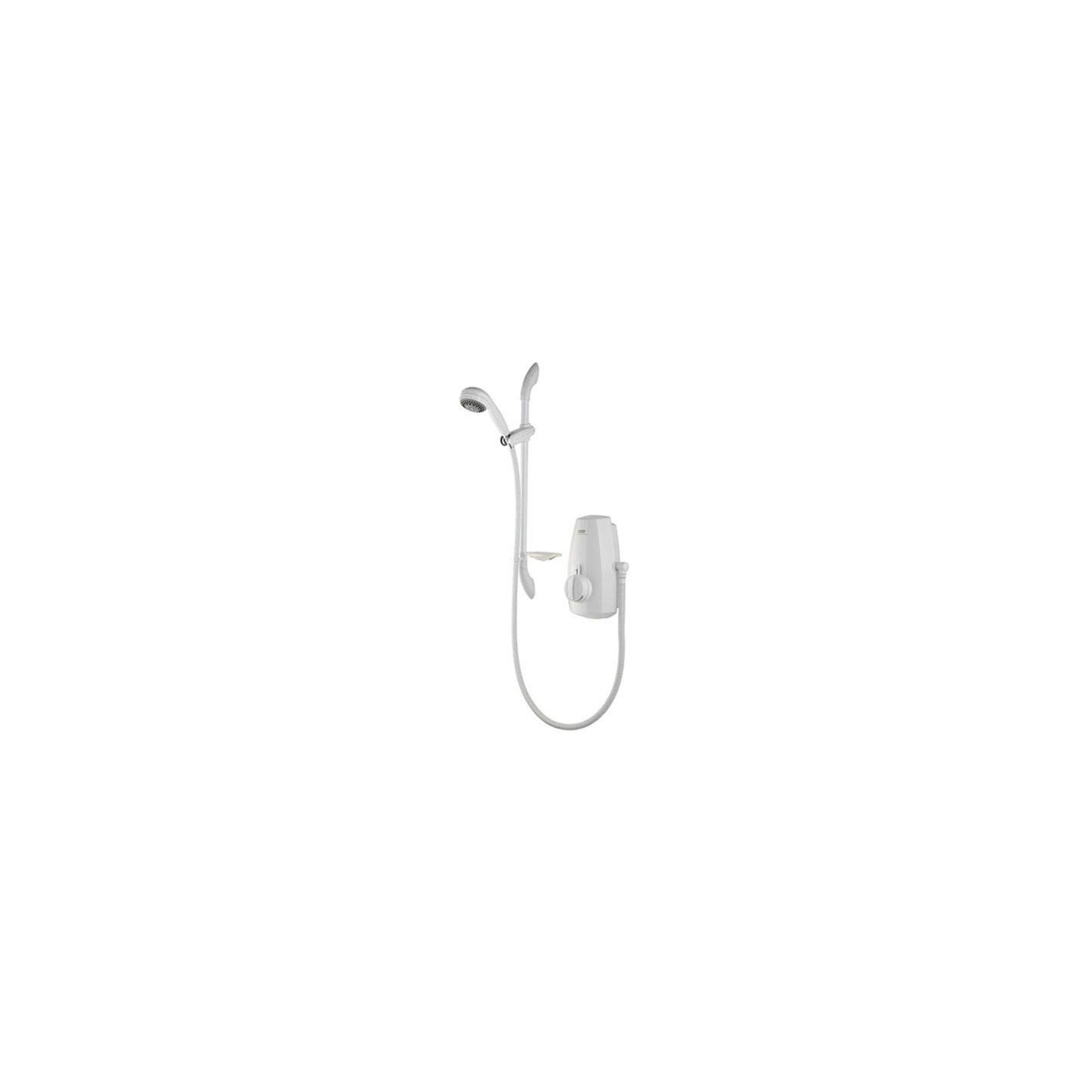 Aqualisa Aquastream Thermo Power Shower with Adjustable Head White at Tesco Direct