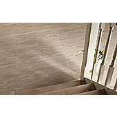 Elgin Marbles Beige Travertine Porcelain Floor Tile 333x333mm