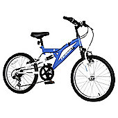"Terrain Freemont 20"" Kids' Dual Suspension Mountain Bike, Blue"