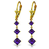 QP Jewellers 4.79ct Amethyst Whiteland Earrings in 14K Gold