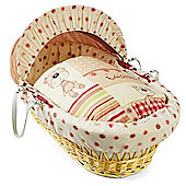 Clair de Lune Natural Wicker Moses Basket (Little Bear)