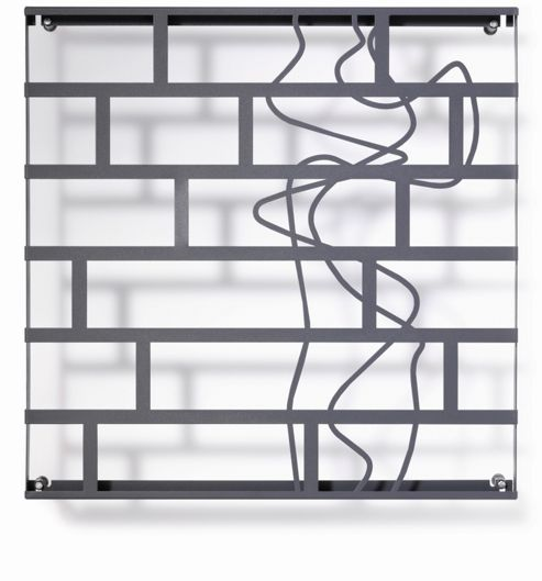 FLORA Grow No.66 Art Trellis in Anthracite