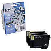 Epson Alarm Clock 27XL DURABrite Ultra Multipack Ink Cartridge (Cyan/Magenta/Yellow)