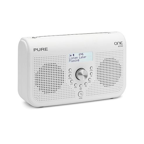 Pure Portable DAB/FM Radio with Clock Sleep Timer & 50 Presets - White