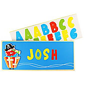 Bigjigs Toys BJ889 Name Plaque (Pirate) (Designs Vary)