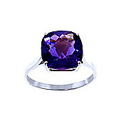 QP Jewellers 3.60ct Amethyst Rococo Cushion Ring in 14K White Gold