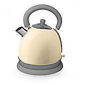 Swan SK261020CN 3kW Fast-Boil 1.8 Litre Retro Dome Kettle in Cream