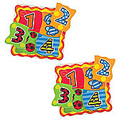 Bigjigs Toys My First Matching Numbers Puzzle (Pack of 2)