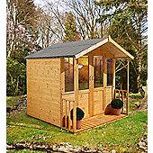 7ft x 7ft Maplehurst Summerhouse - 7 x 7 Assembled Garden Wooden Summerhouse 7x7