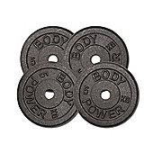 Body Power Cast Iron STANDARD Discs 5kg (x4)