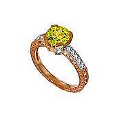 QP Jewellers Diamond & Peridot Fantasy Ring in 14K Rose Gold