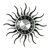 Premier Housewares Wavy Sun Shape Wall Clock