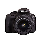 "Canon EOS 100D Digital SLR Camera, Black,  18MP, 3"" LCD Touch Screen, 18-55mm Lens"